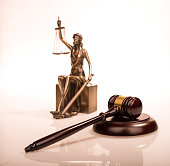 justice and Wooden gavel,law concept