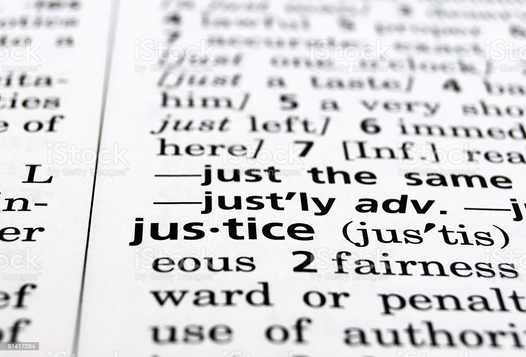 Justice Defined stock photo