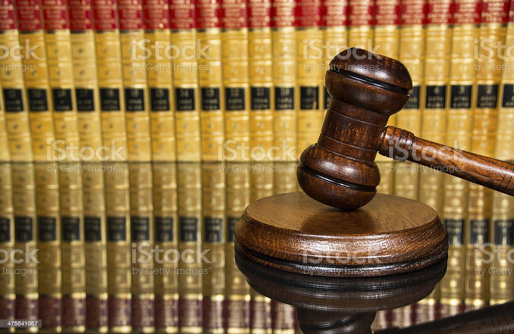 Justice gavel stock photo