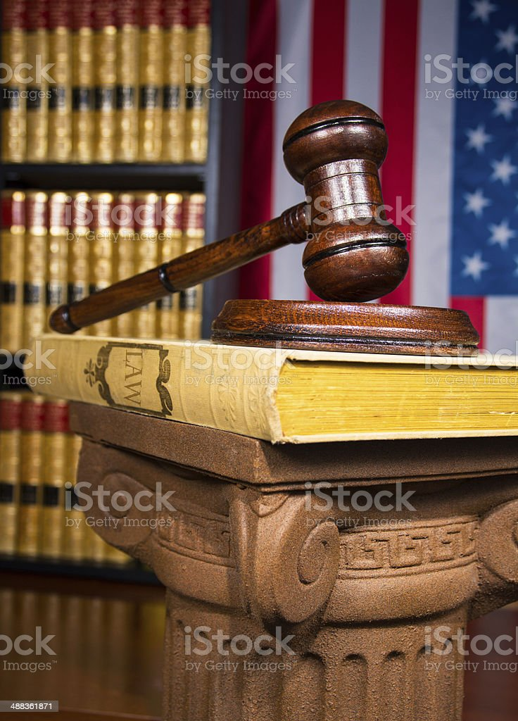 Justice gavel stock photo
