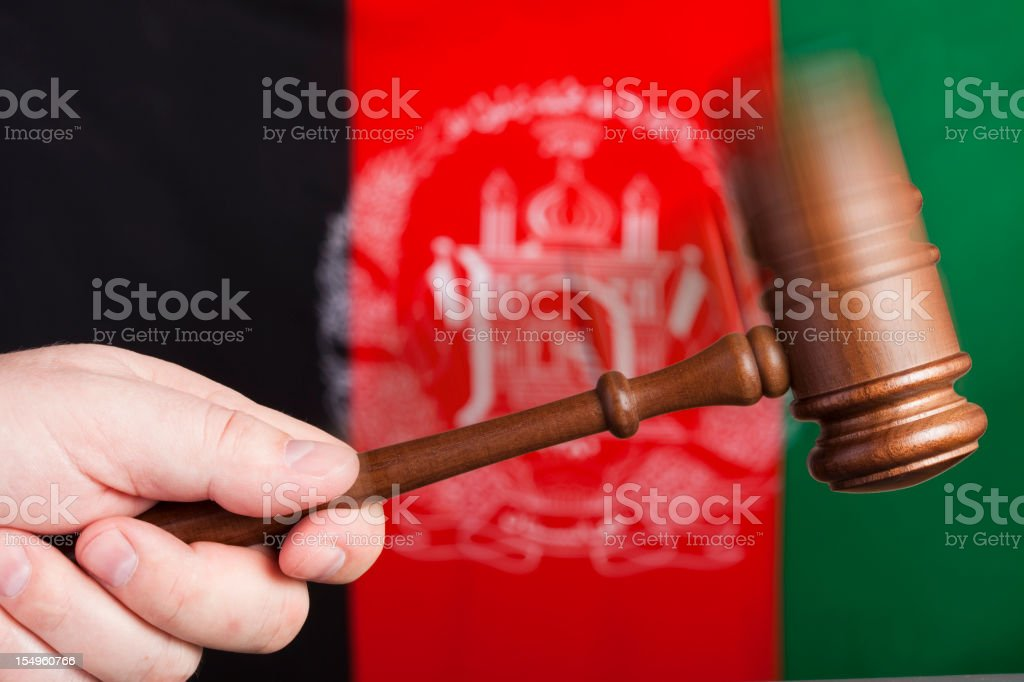 Justice in Afghanistan stock photo