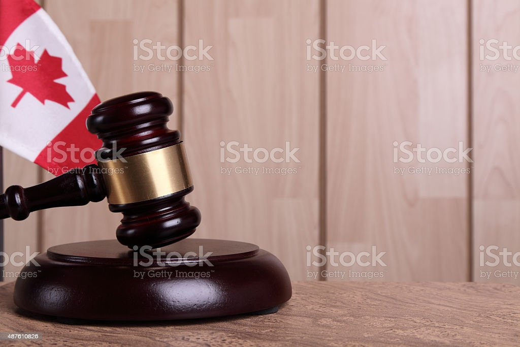 Justice in Canada stock photo
