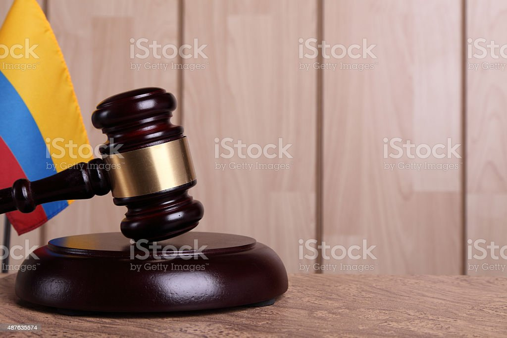 Justice in Colombia stock photo