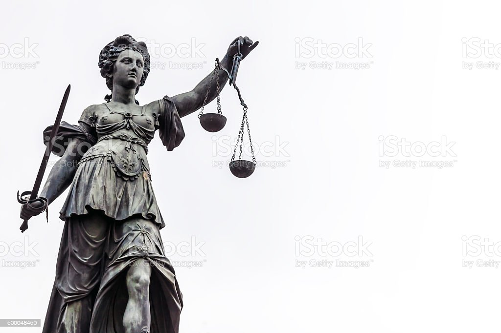 Justice in Frankfurt stock photo