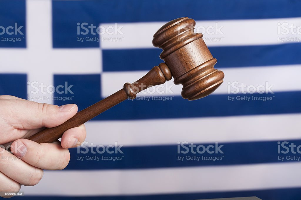 Justice in Greece royalty-free stock photo