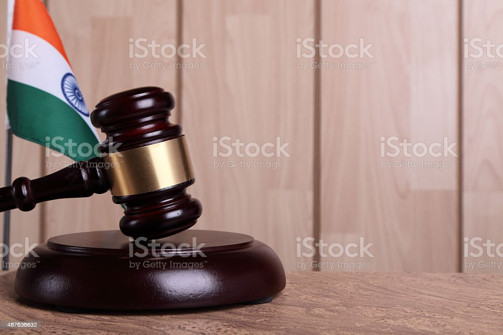 Justice in India stock photo