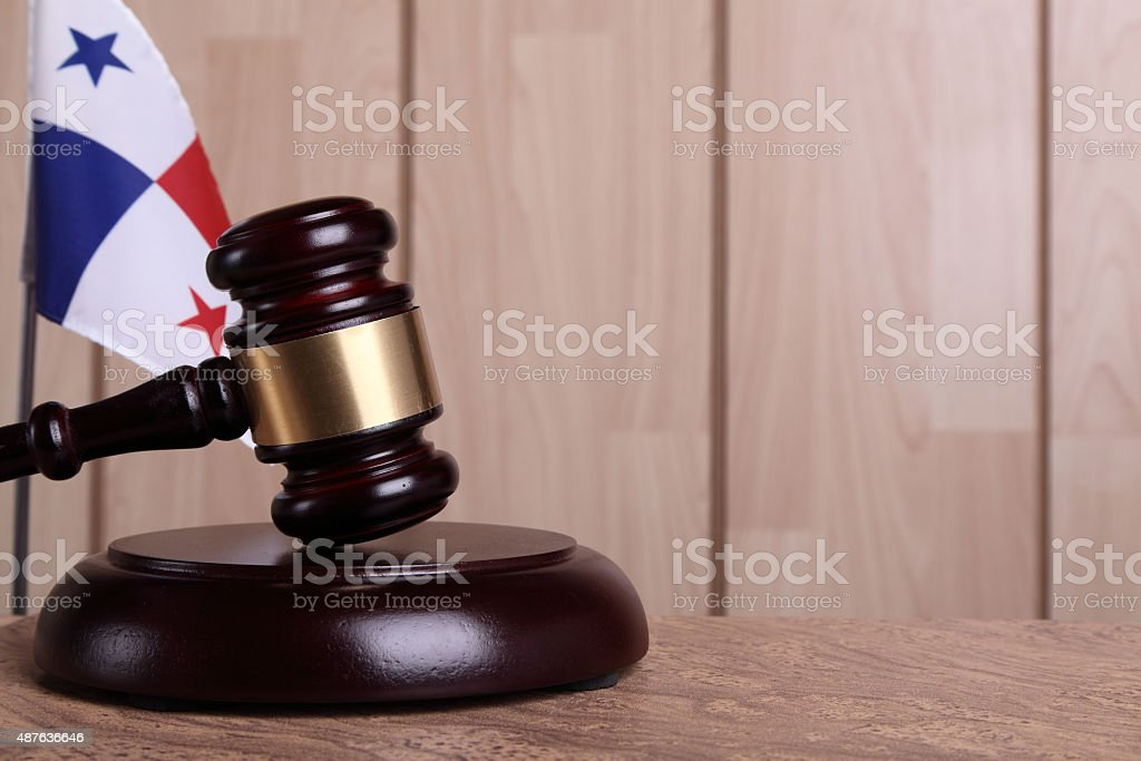 Justice in Panama stock photo