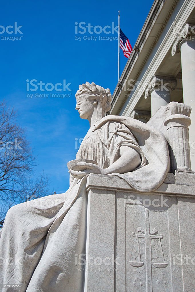 Justice is Blind stock photo