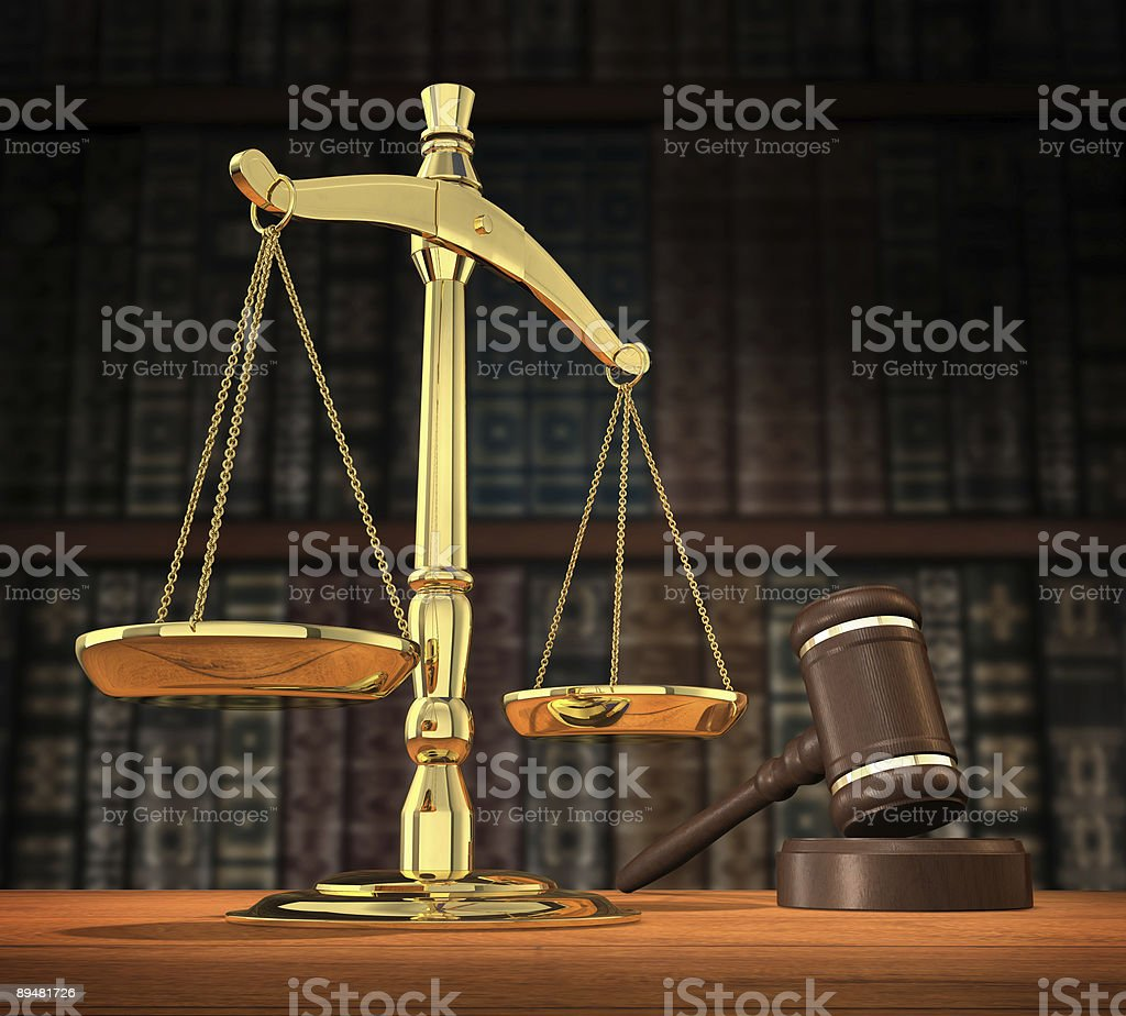 Justice is served royalty-free stock photo