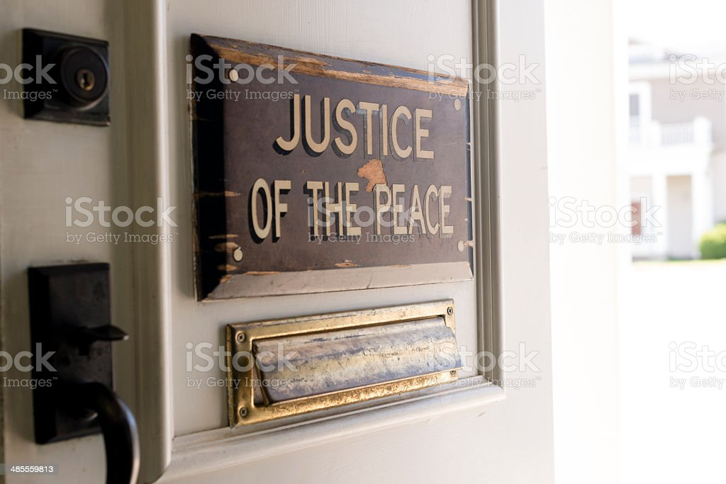 Justice of Peace royalty-free stock photo