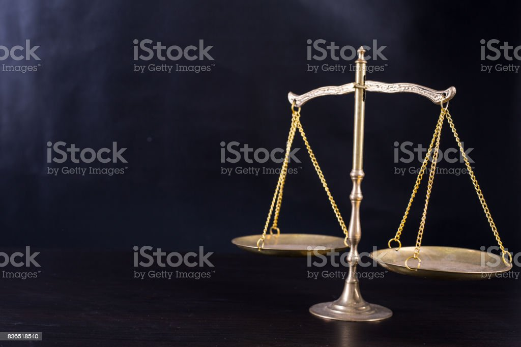 Justice of scale stock photo