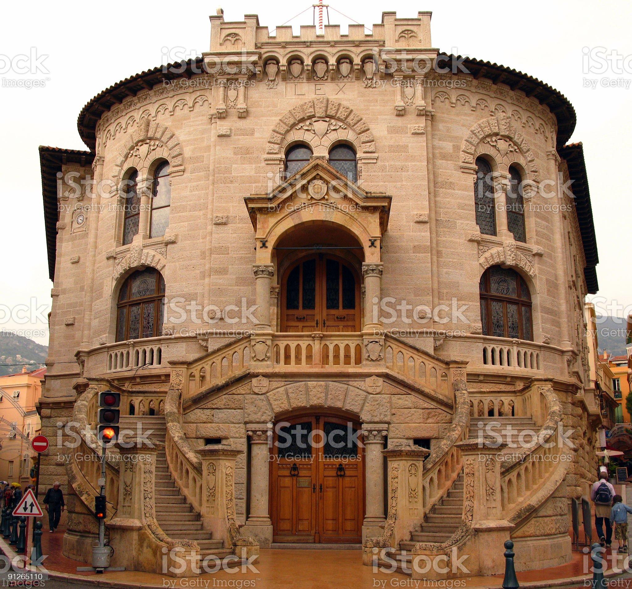 Justice Palace, Monaco royalty-free stock photo