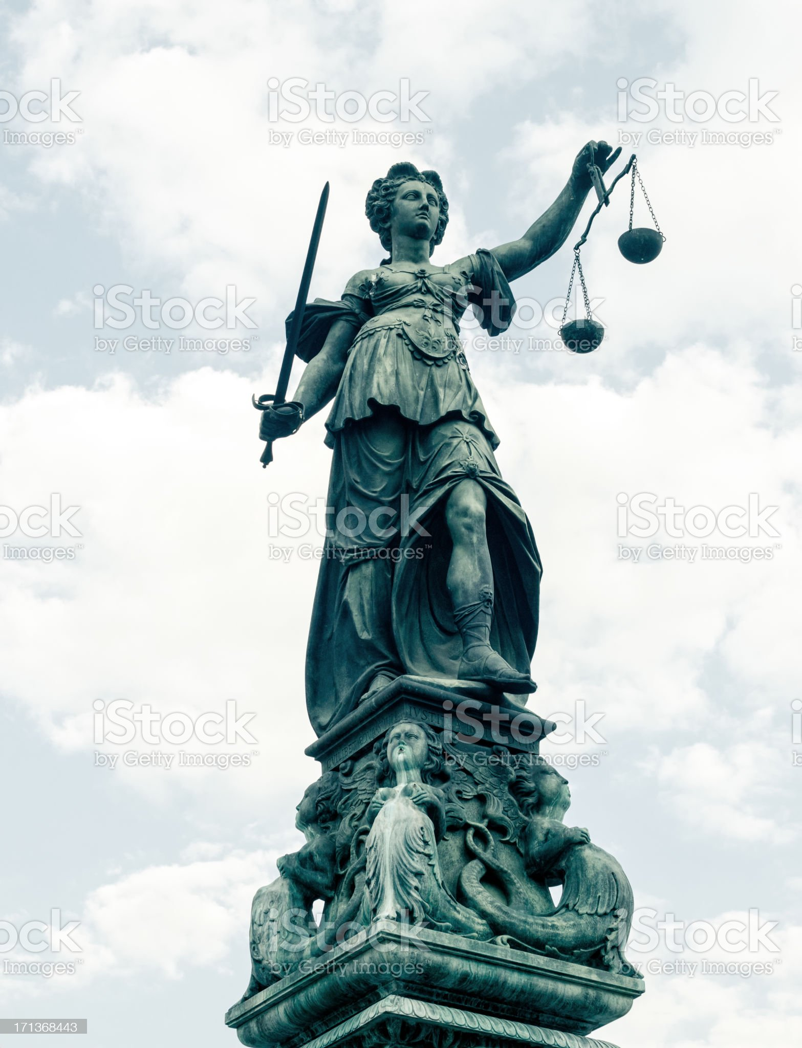 Justice (Justitia) royalty-free stock photo