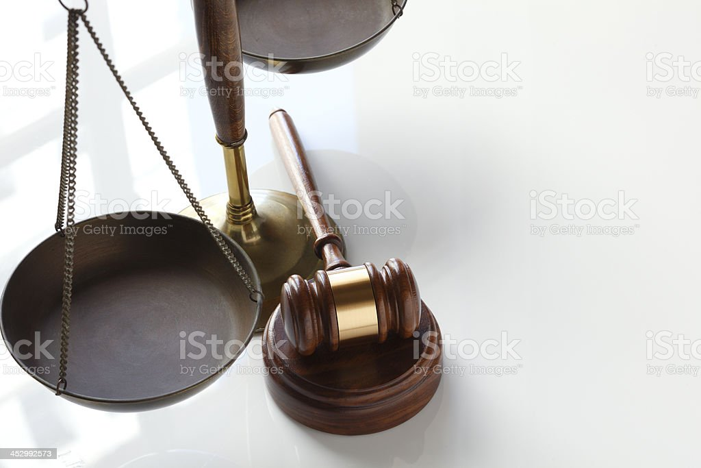 Justice Scale and Gavel royalty-free stock photo