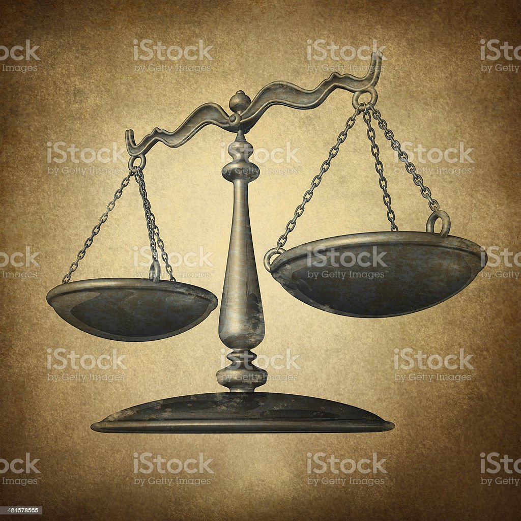 Justice Scale Grunge stock photo