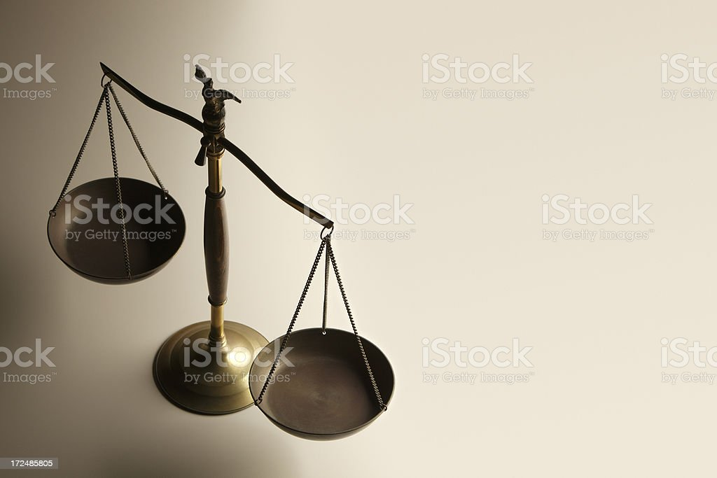 Justice Scale stock photo
