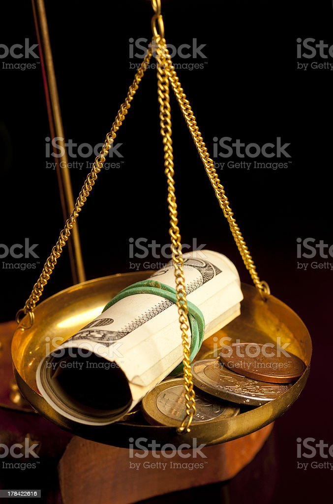 justice scale royalty-free stock photo