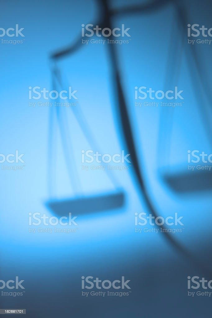 Justice Scale Shadow royalty-free stock photo
