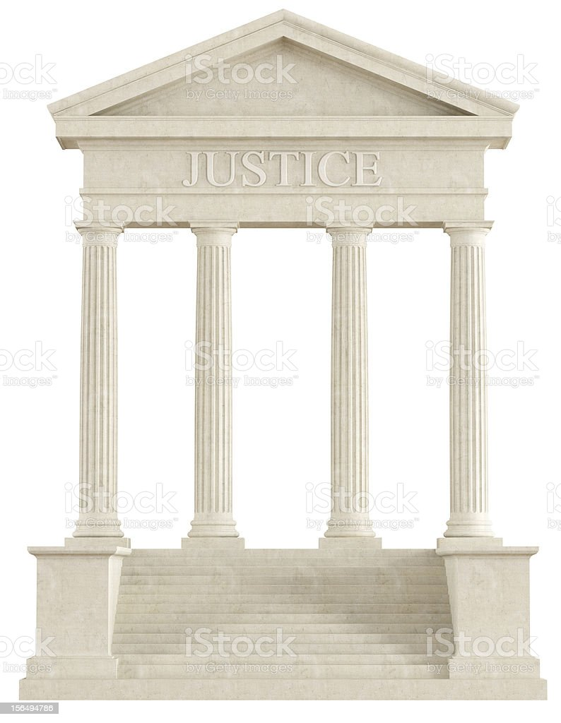Justice temple stock photo