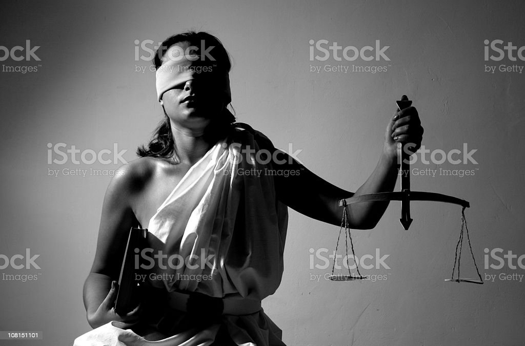 Justice-series with different situation royalty-free stock photo
