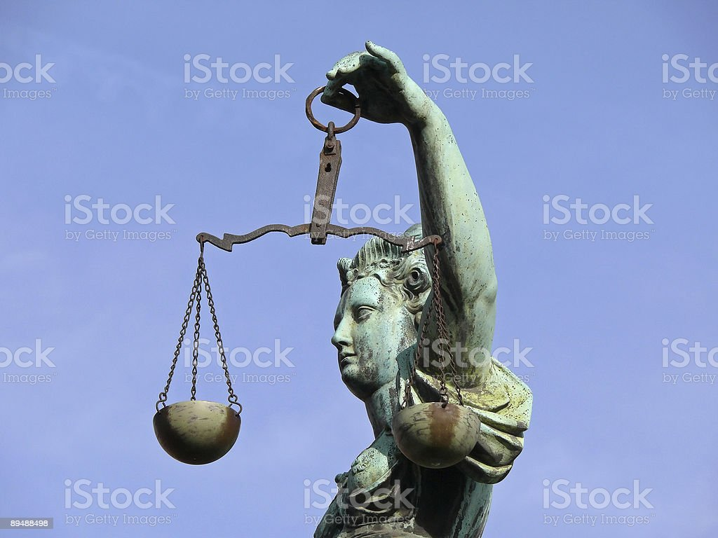 Justicia with scale stock photo