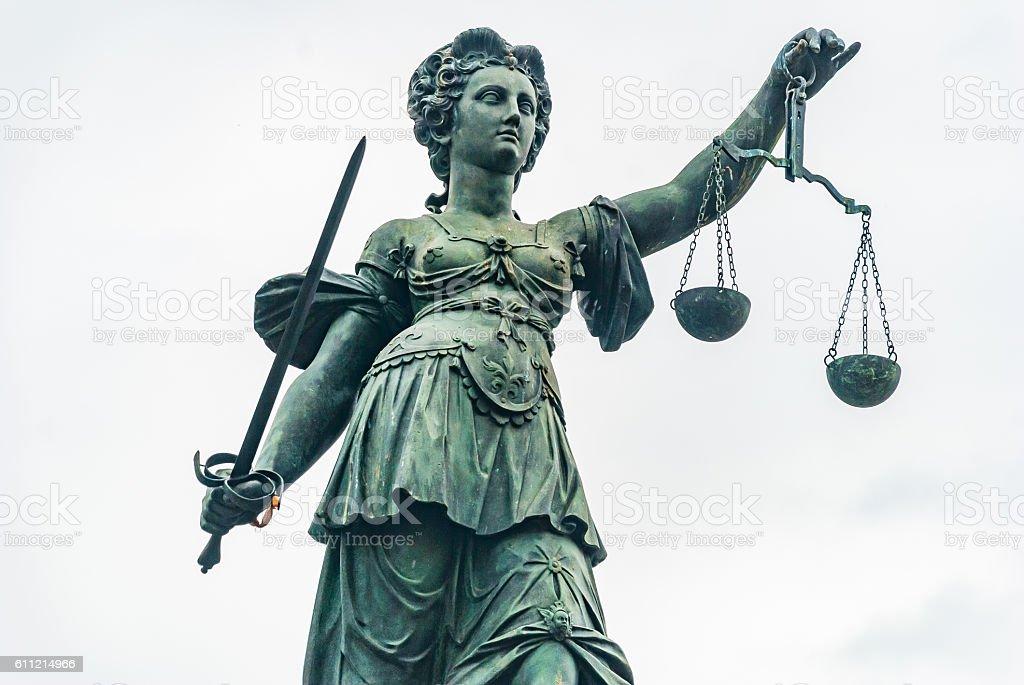 Justitia Frankfurt stock photo