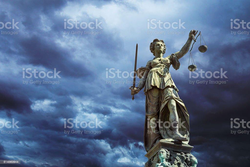 Justitia in Frankfurt stock photo