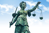 Justitia monument - Frankfurt