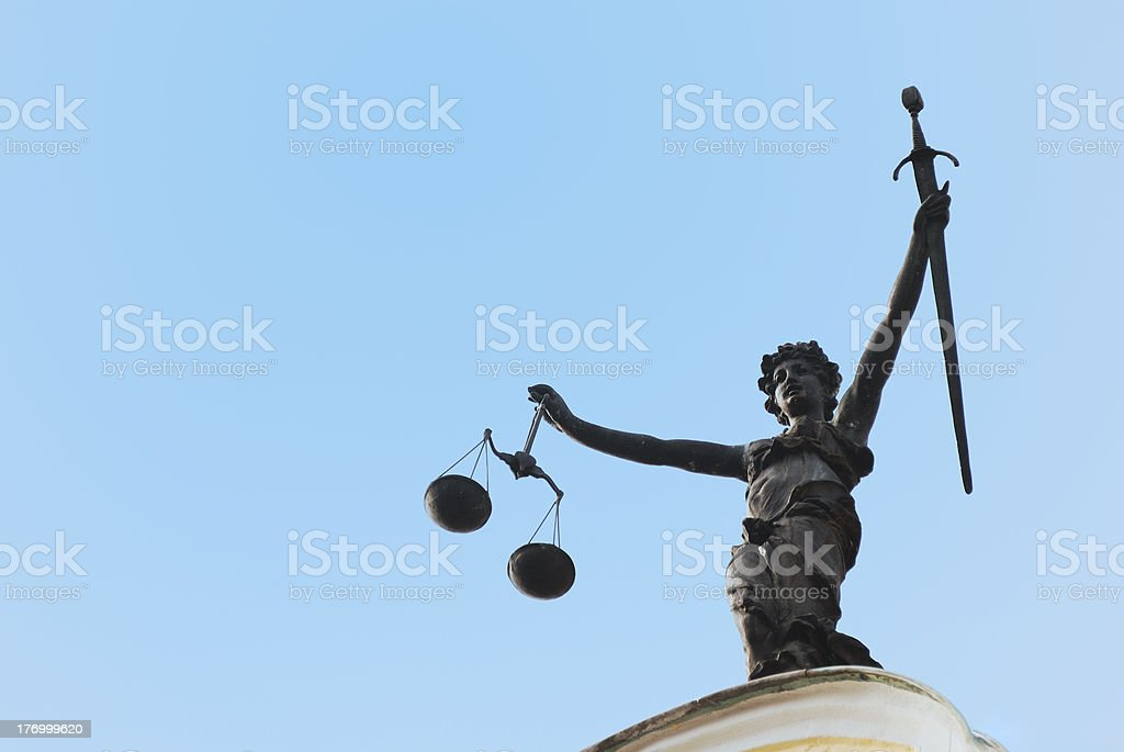 Justitia royalty-free stock photo