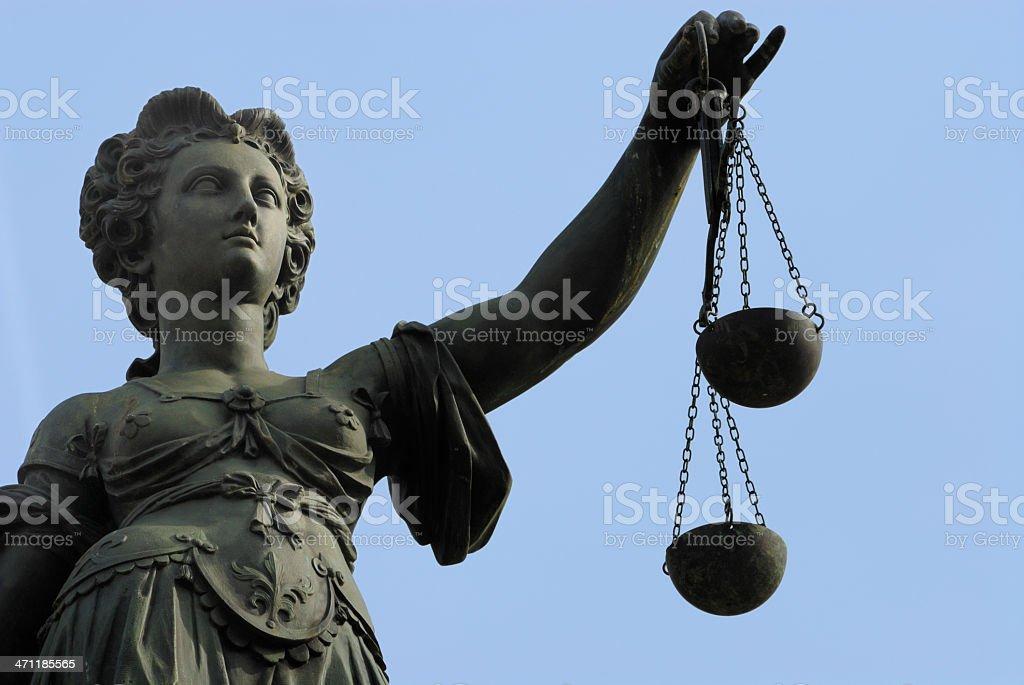 Justitia royalty-free stock photo