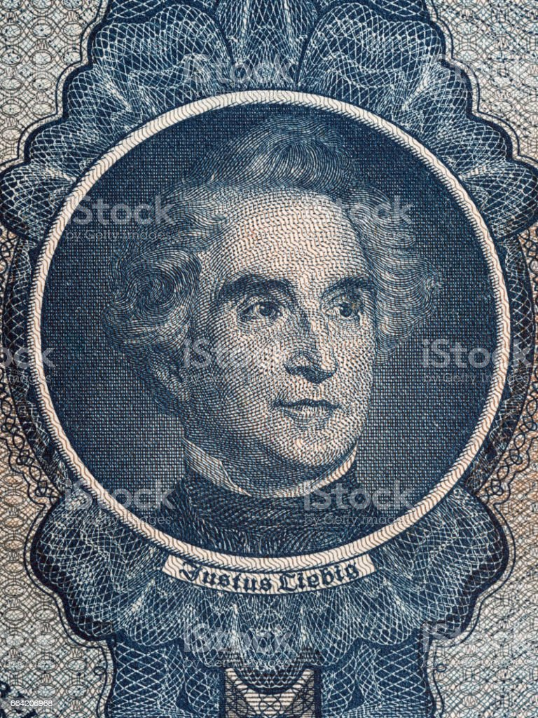 Justus von Liebig portrait stock photo