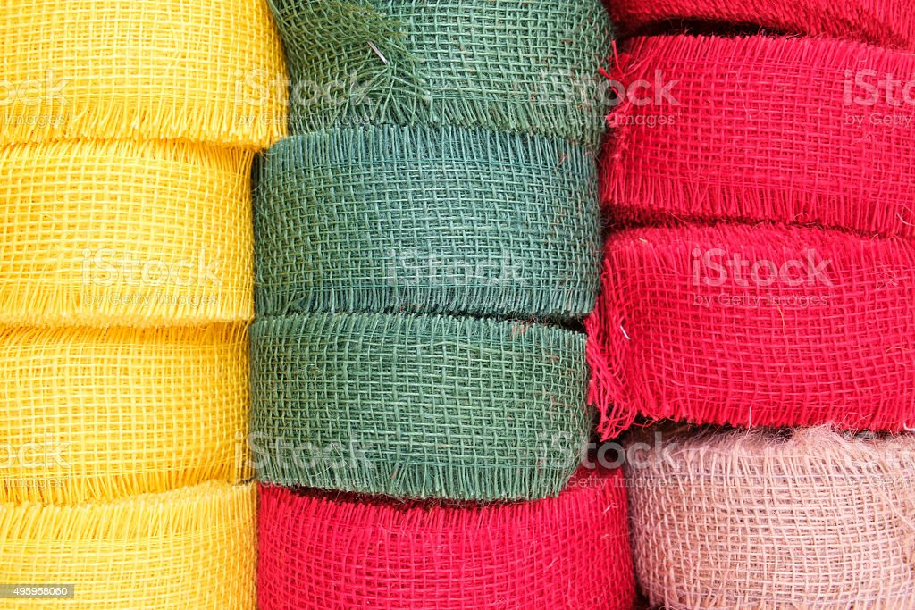 jute bands stock photo