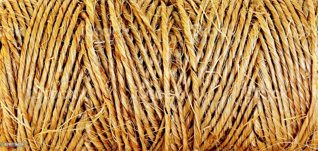 Jute rope texture royalty-free stock photo