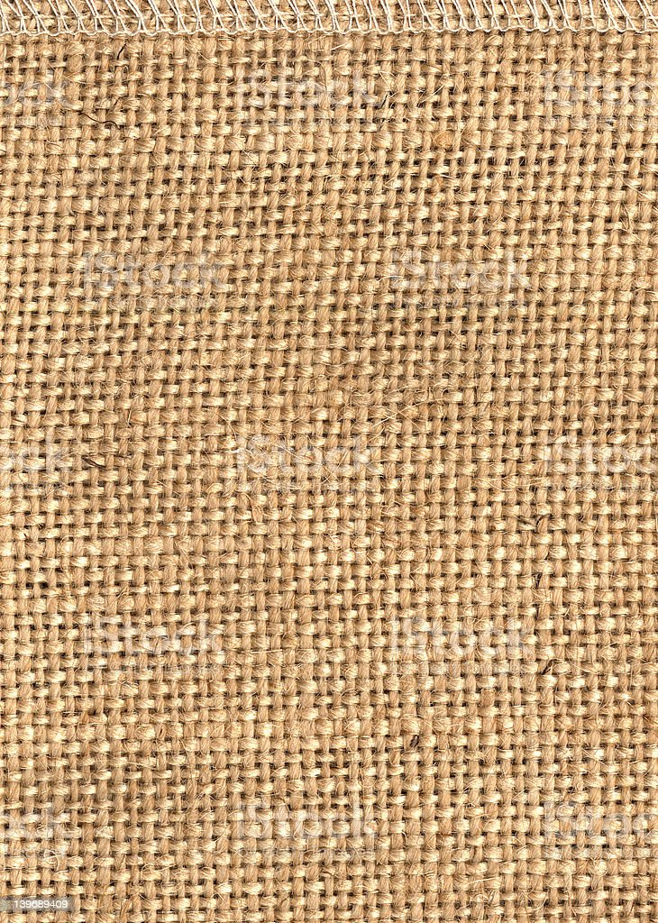 Jute structure from a bag royalty-free stock photo