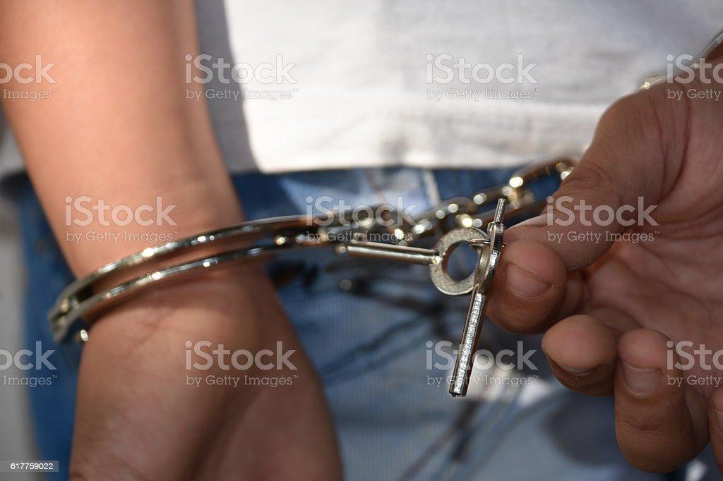 Juvenile delinquency stock photo