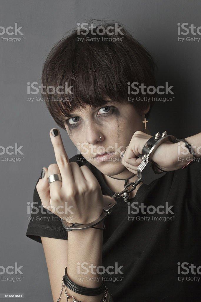 Juvenile delinquent stock photo