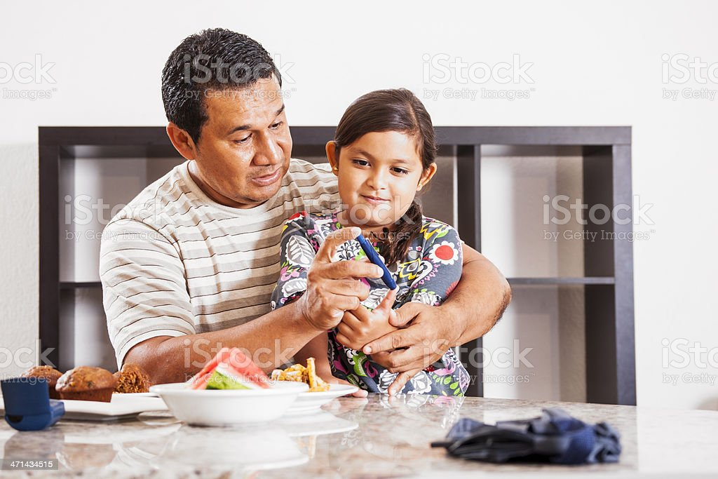 Juvenile diabetes, fasting blood glucose level. stock photo