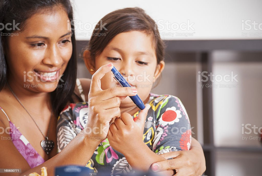 Juvenile diabetes mellitus type 1 stock photo