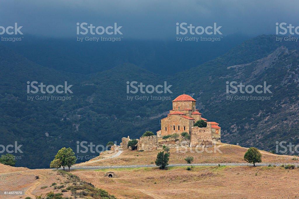 Jvari Monastery in Georgia stock photo