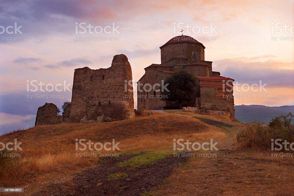 Jvari Monastery, Mtskheta, Georgia. stock photo