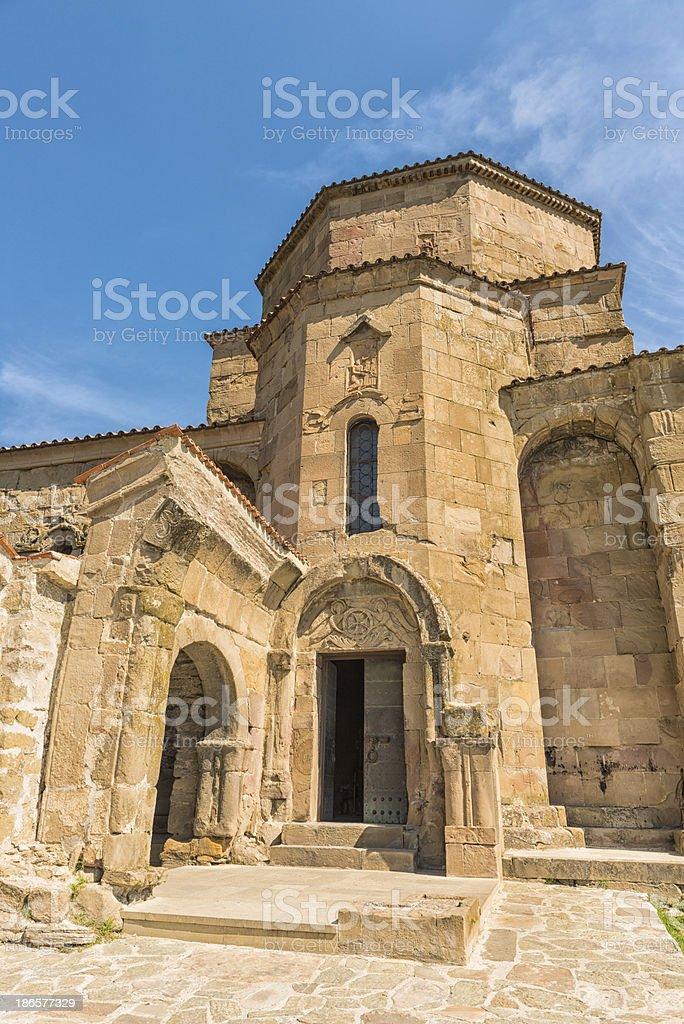 Jvari Monastery stock photo
