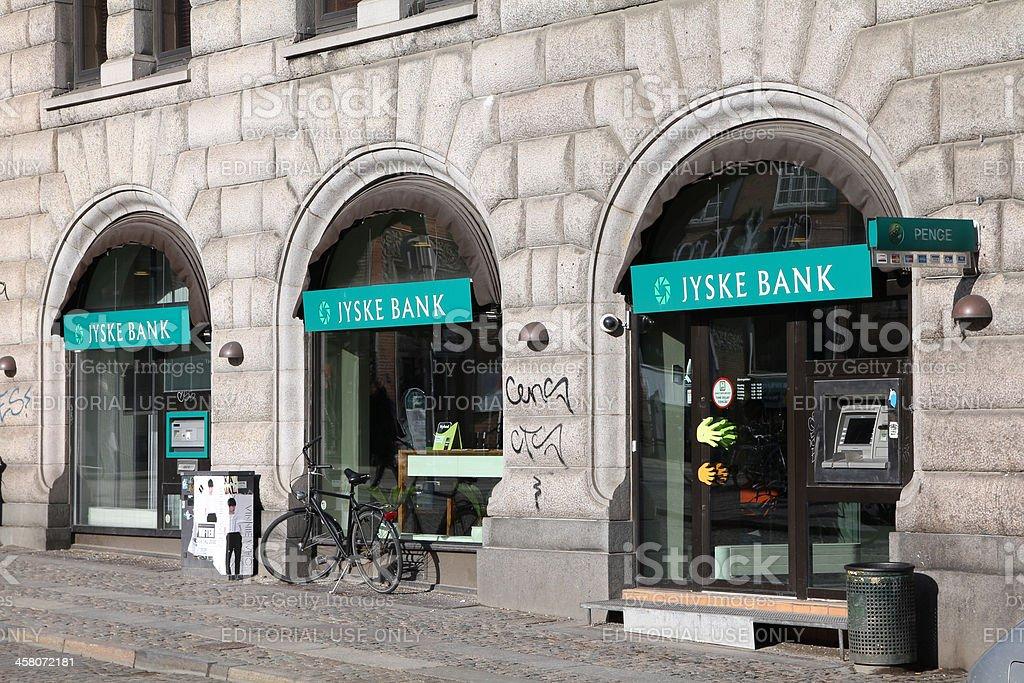 Jyske Bank in Denmark royalty-free stock photo