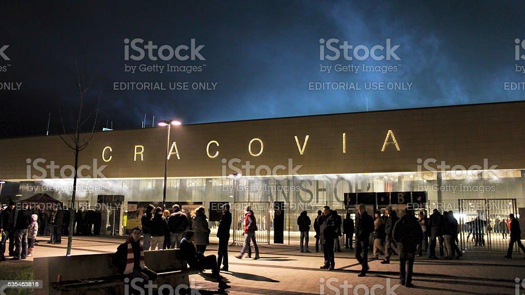 Józef Piłsudski Stadium, KS Cracovia stock photo