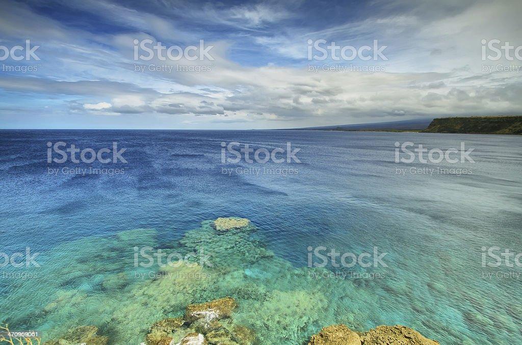 Ka lae South point in Big island, Hawaii stock photo