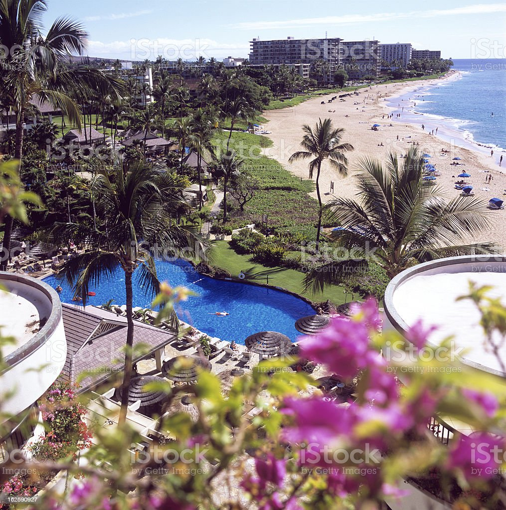 Kaanapali beach Maui Hawaii royalty-free stock photo
