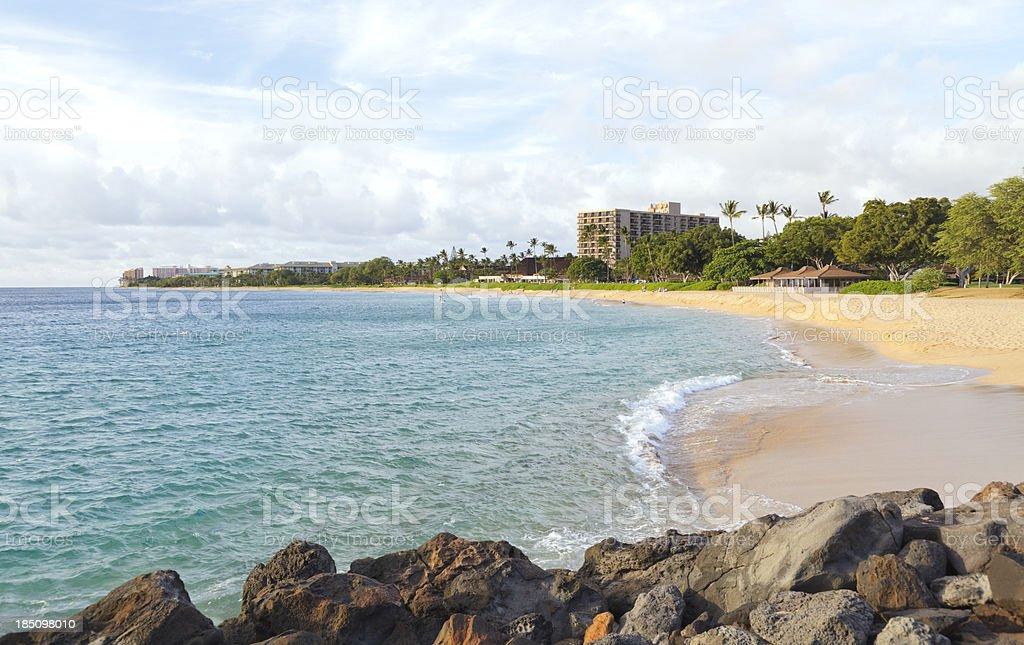 Kaanapali Beach (Kahekili Beach), Maui, Hawaii stock photo