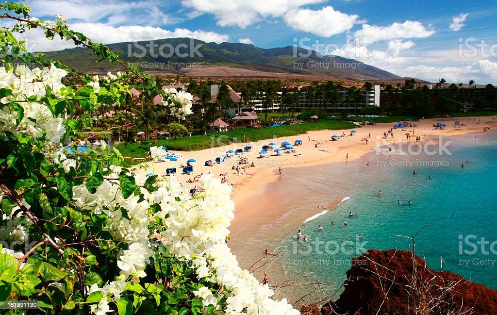 Ka'anapali beach on Maui Hawaii stock photo