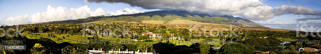 Kaanapali Mountainscape stock photo
