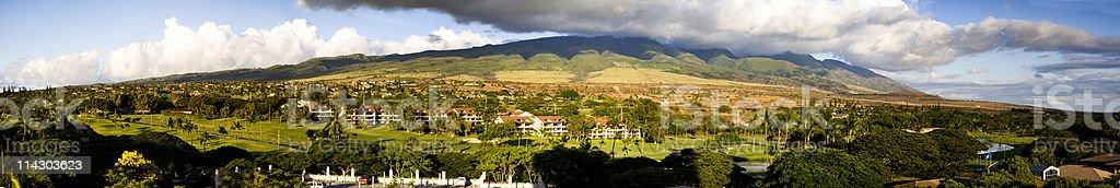 Kaanapali Mountainscape stock photo