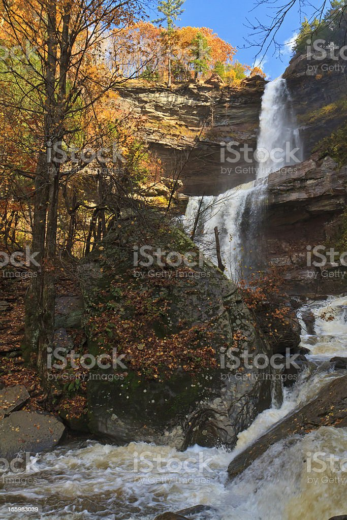 Kaaterskill Falls after a Heavy Autumn Rain stock photo